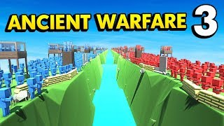 BLUE ISLAND vs RED ISLAND IN ANCIENT WARFARE 3 (Ancient Warfare 3 Funny Gameplay)