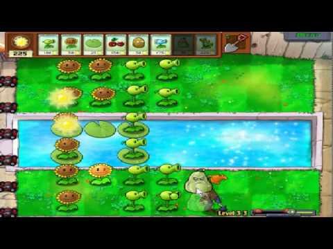 Plants vs zombies (Trồng cây bắn zombie) - Cấp độ 3-3 (Game Việt Hóa)