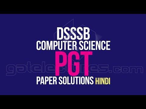 DSSSB KVS TGT & PGT Computer Science paper Solution (Delhi Subordinate Services Selection Board)