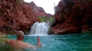 Supai Arizona, Havasu Falls Cliff Jumping