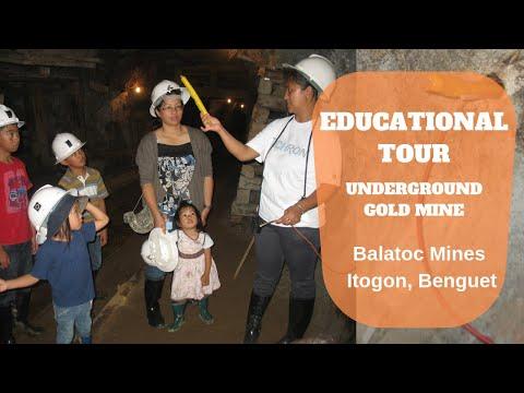 UNDERGROUND GOLD MINE TOUR | HOMESCHOOLING EDUCATIONAL TOUR | BALATOC MINES BENGUET PHILIPPINES