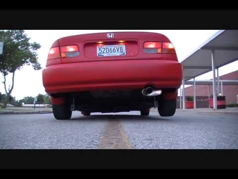 Bagged Matte Red 1998 Honda Civic 2dr Youtube