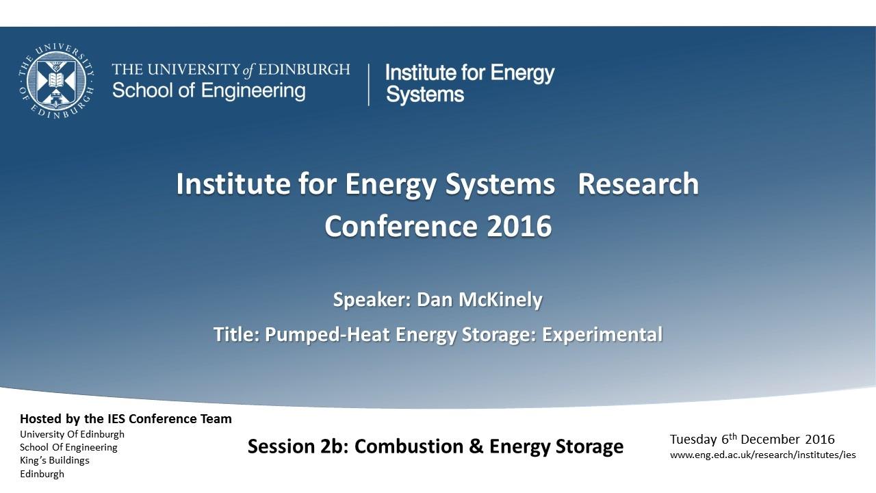 hight resolution of pumped heat energy storage experimental dan mckinley