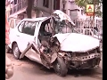 Accident at Maa flyover, 3 injured