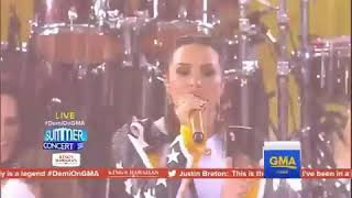 Demi Lovato performing Sorry Not Sorry at the Good Morning America Concert 2017 part 2