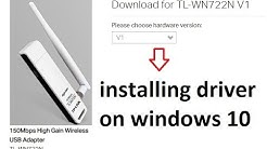 How to download and install tplink tl wn722n v1 wireless usb driver on windows 10 or win8