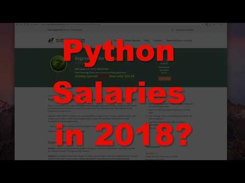 Python Salaries in 2018