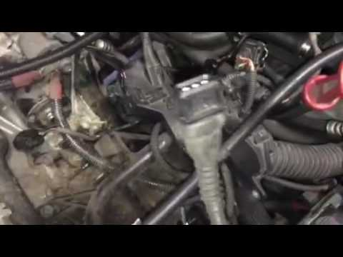BMW camshaft and crankshaft position sensor removal - YouTube