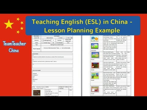 Example Lesson Plan For English ESL Class In China YouTube