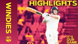 Buttler and Stokes Lead England Fightback |  Windies vs England 3rd Test Day 1 2019 - Highlights