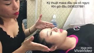 Dạy maxa đầu vai cỗ ngực Khi gội đầu.cty đào tạo nghề tóc NGỌC THÚY 0936337881