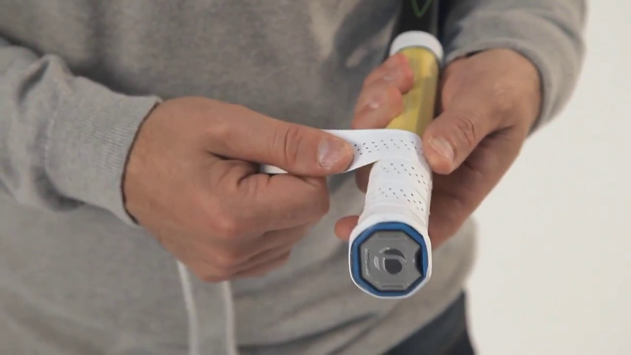 bb4b8e0c0 TENNIS // How to install correctly a grip or an overgrip on your tennis  racket ?