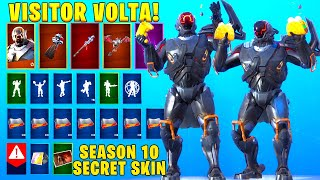 VISITOR VOLTA SECRET SKIN Showcase With LEAKED Fortnite Dances - Emotes.!