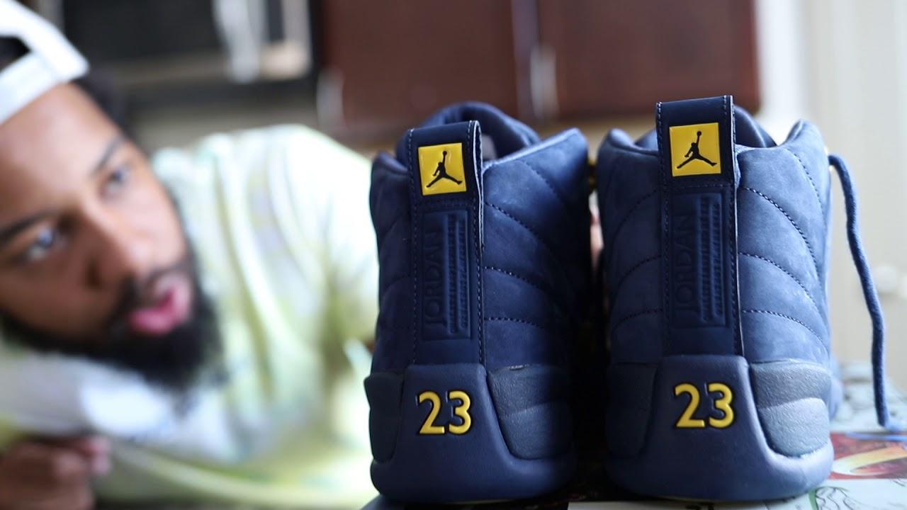 "Air Jordan 12 ""Michigan"" (Dope or Nope) size 8 - YouTube 5bfcab983"