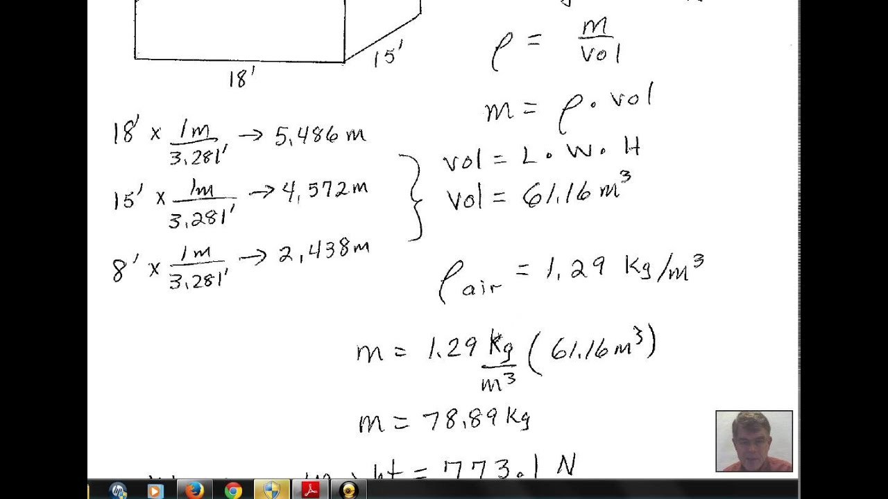 How To Calculate The Volume Of A Room Weight Of Air In A