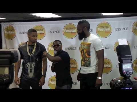 Kevin Hart Takes Over Trey Songz Press Conference with James Harden