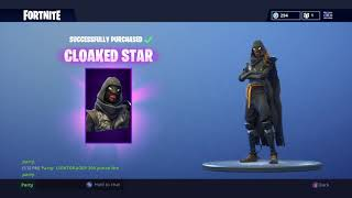 Buying the Cloaked Star Skin! Fortnite: Battle Royale