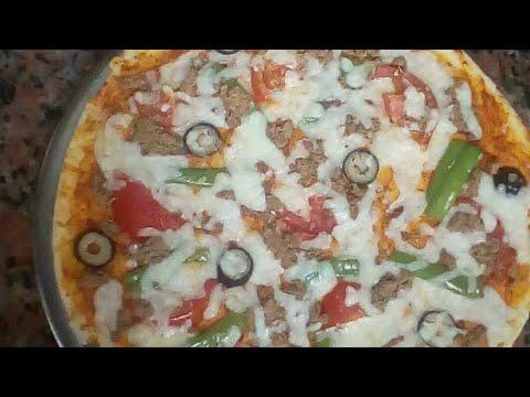 صورة  طريقة عمل البيتزا طريقة عمل البيتزا هشة وسهلة جدا للمبتدئين لازم تجربوها 😍😍 طريقة عمل البيتزا من يوتيوب