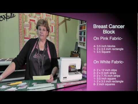 Breast Cancer Ribbon Quilt Block