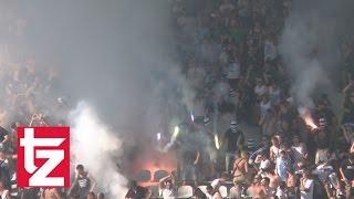 Kleines Derby: Löwen-Fans zünden Pyros und werfen Feuerwerkskörper (TSV 1860 II vs. FC Bayern II)