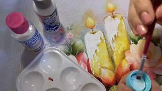 Pintura em tecido – Aprenda Pintar Vela de Natal