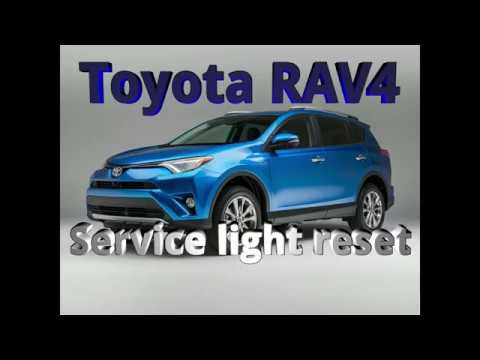 2017 Toyota Rav4 Service Light Reset