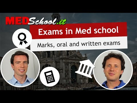 How are exams structured? - English Med Schools in Italy with Erik Campano and Alex O.