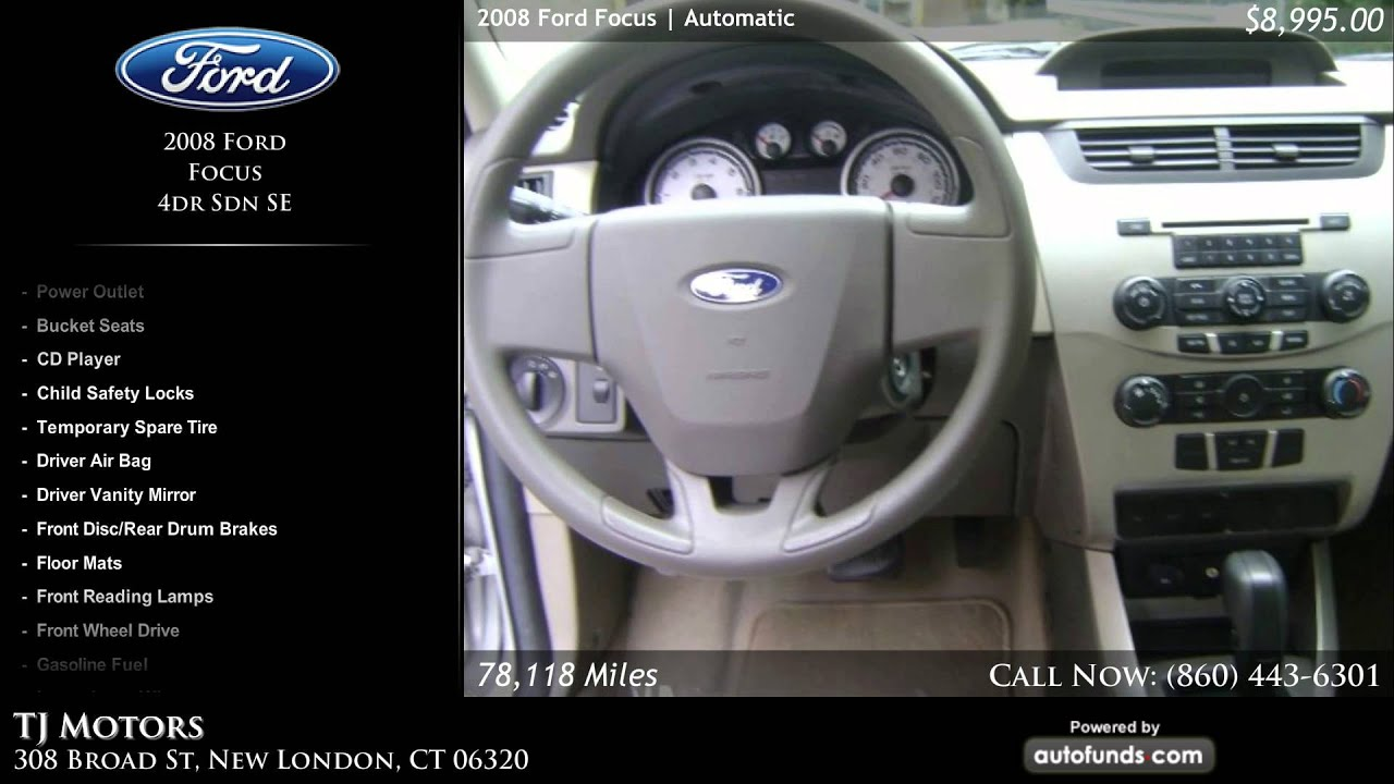 used 2008 ford focus tj motors new london ct sold