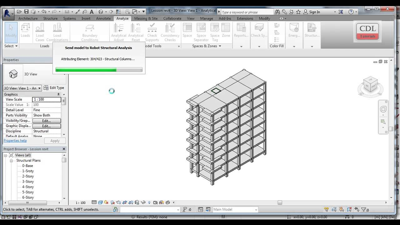 Autodesk Revit Structure Integration with Autodesk Robot Structural Analysis