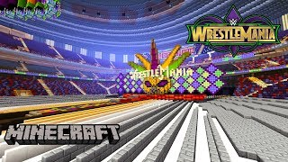 Minecraft WWE Wrestlemania 34 Stage And Pyro (WWE Hall Of Fame & NXT Takeover New Orleans Arena)