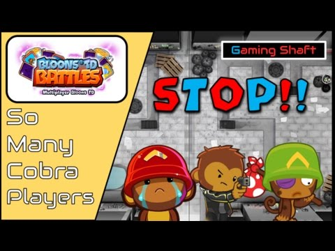 Bloons TD Battles - Everyone Using COBRA in BFB Colosseum?? - Facing 3 in a Row - LEADS OP Again :/