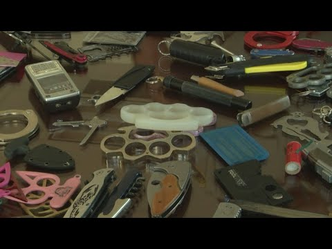 Hundreds of knives found each month coming into District Court