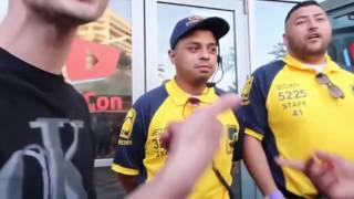 BIGGEST FUCKBOY AT VIDCON HARASSING A SECURITY GUARD