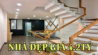Bán nhà Gò Vấp( 143 )Nhà đẹp 3 lầu dài 16m hẻm rộng thiết kế cực đẹp và thoáng giá: 4.2 tỷ