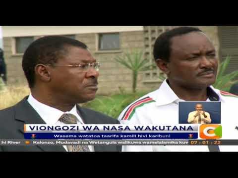 Vigogo wa NASA wajadili mkutano kati ya Raila na Uhuru