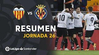 Resumen de Valencia CF vs Villarreal CF (2-1)