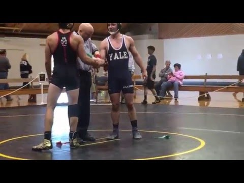 Andrew Gabros Vs. Another Yale Wrestler