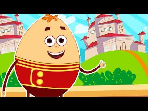 Шалтай-Болтай | Любимые Песенки и Стишки Для Детей | Humpty Dumpty | HooplaKidz песенки для детей
