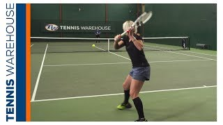 Tennis Drills with Bethanie Mattek-Sands: Slice; Topspin Crosscourt