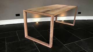 Oak Walnut Pro-type Table using Festool Domino SV-SYS D14
