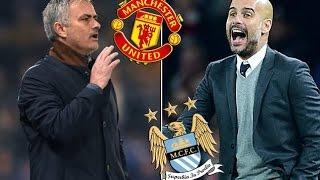 Mourinho vs Guardiola   Manchester United vs Manchester City Manchester Derby