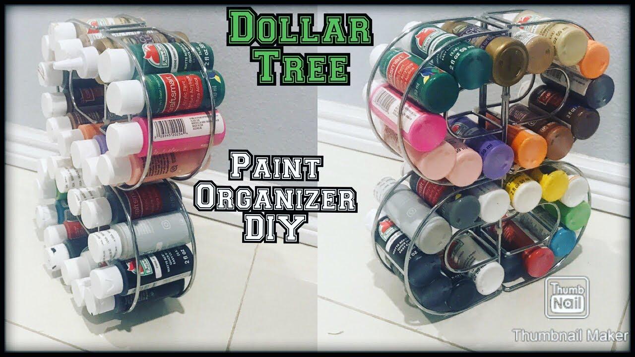 Dollar Tree Organization Idea For Paint Bottles Spices Kitchen Organizer Craft Room Organizer Diy Youtube