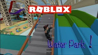 ROBLOX - WATER PARK ADVENTURE - Zed Rides the Slides!