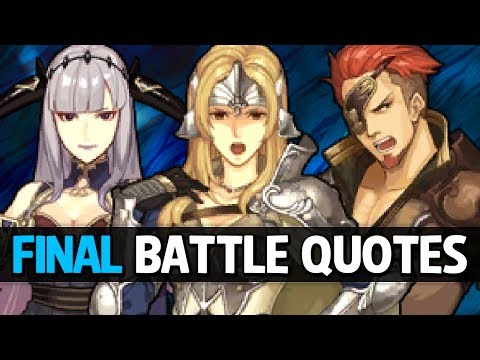 Fire Emblem Echoes: Shadows of Valentia - All Allies Final Battle Quotes (+DLC Units)