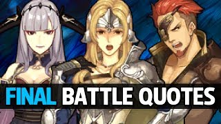Fire Emblem Echoes: Shadows of Valentia - All Allies Final Battle Quotes (+DLC Units)