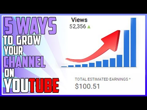 5 Ways to Grow Your Channel on Youtube!