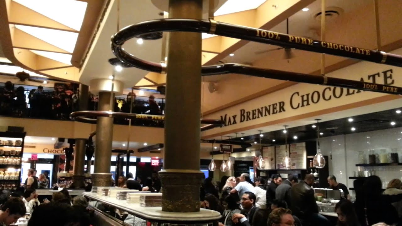 Max Brenner Nyc Chocolate Restaurant Youtube