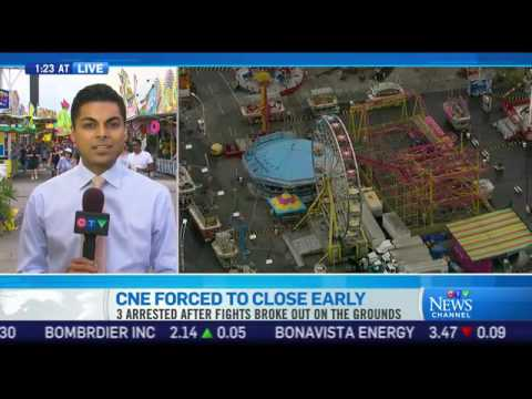 CNE shuts down early due to unruly crowd on youth day