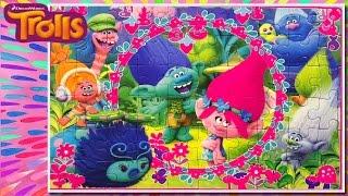 TROLLS puzzle toys 2016 Poppy and Branch singing Jigsaw Game - Rompecabezas de Trolls película