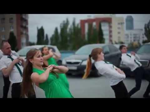 Видео, Ребята зажигают Самый крутой корпоративный танец. флешмоб
